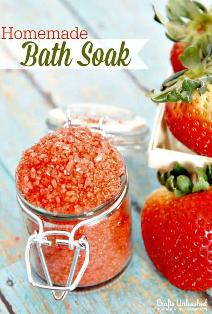 Homemade Strawberry Bath Soak Recipe - DIY