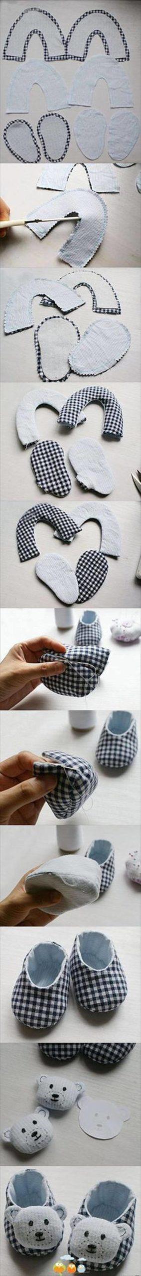 botines de bebé hechos a mano inspirados en animales