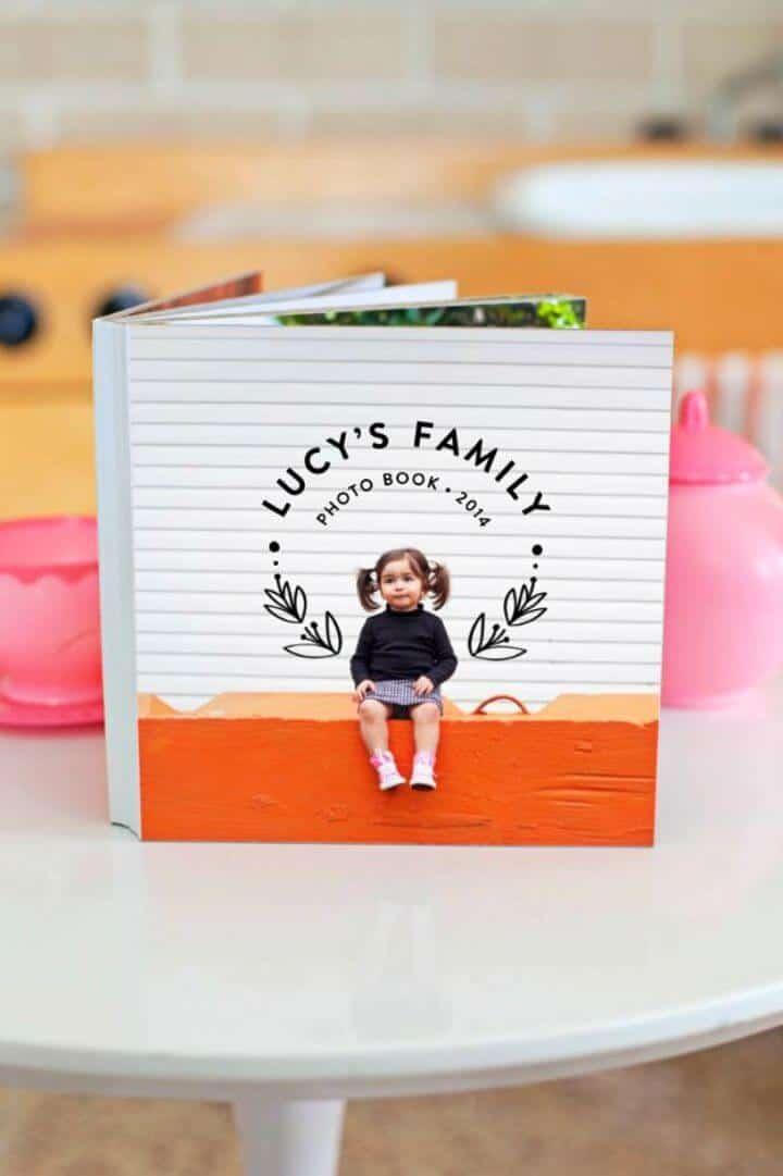 Impresionante libro de tablero de fotos de familia de bricolaje