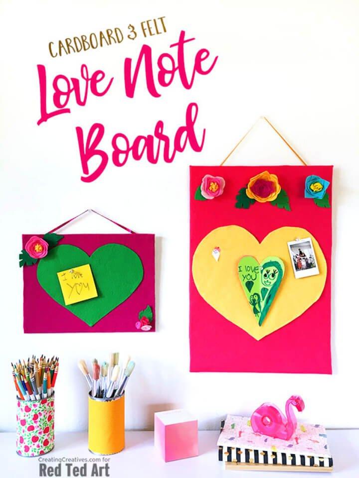 Impresionante tablero de anuncios de corazón de bricolaje