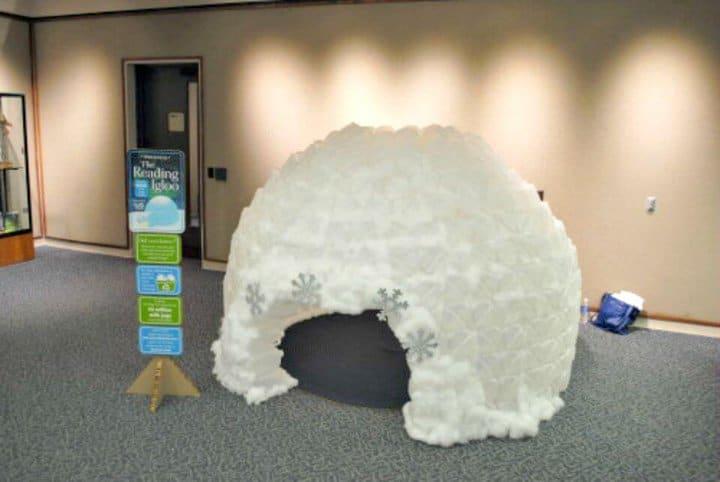 Impresionante iglú de bricolaje de jarra de leche