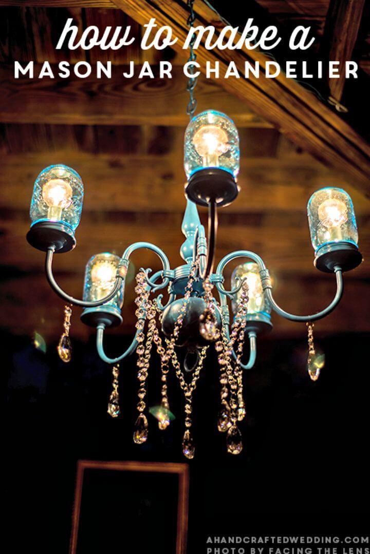 Impresionante candelabro de tarro de masón DIY