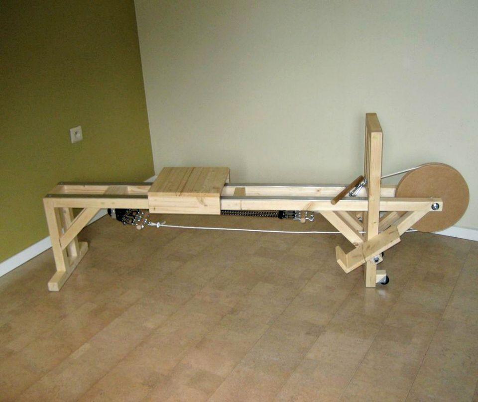 Hacer una máquina de remo - Proyectos de equipos de gimnasia de bricolaje