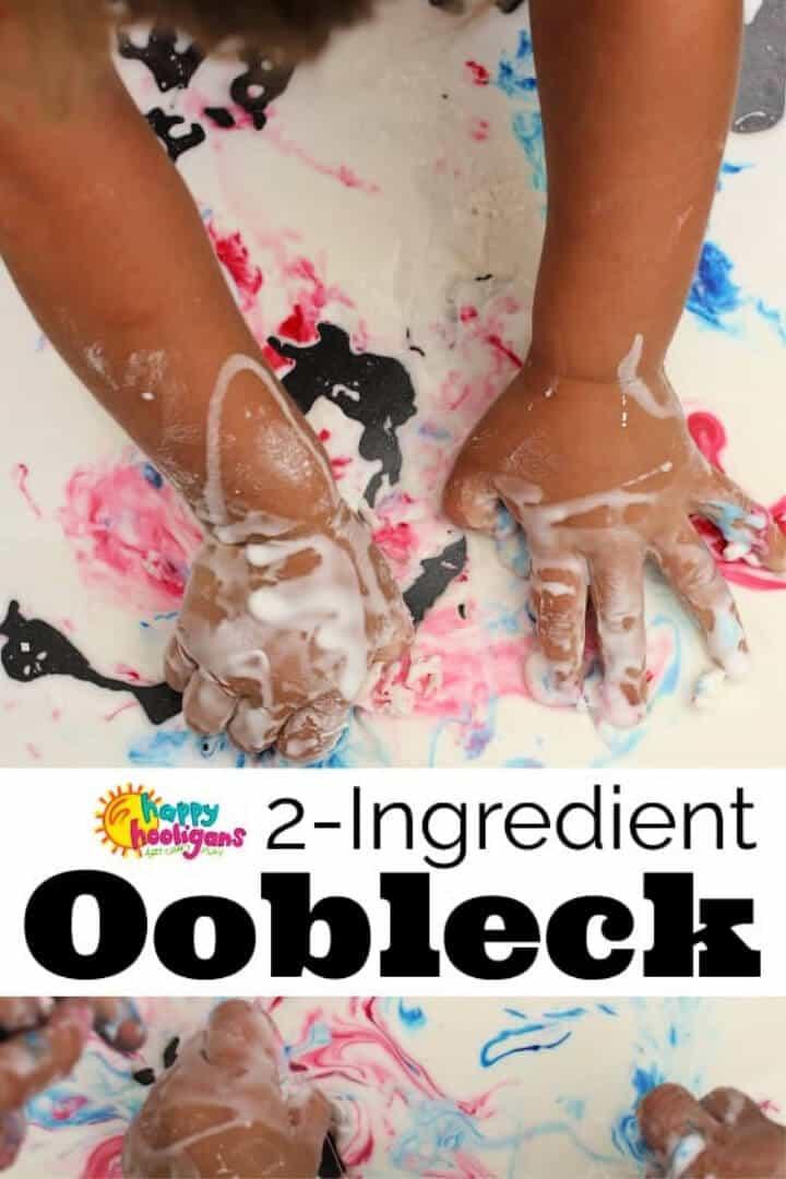 Receta básica de dos ingredientes Oobleck