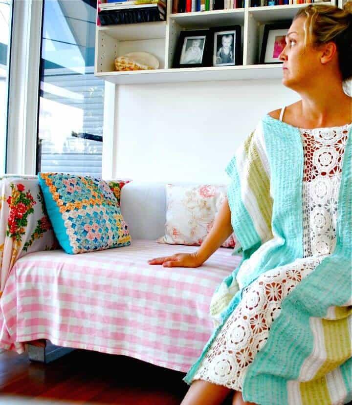 Vestido kaftan de playa fácil de hacer para las vacaciones de verano