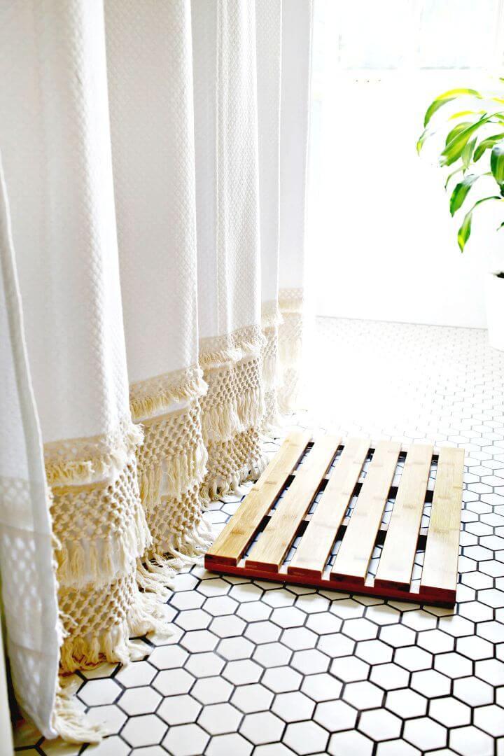 Cómo hacer una cortina de ducha de macramé - DIY