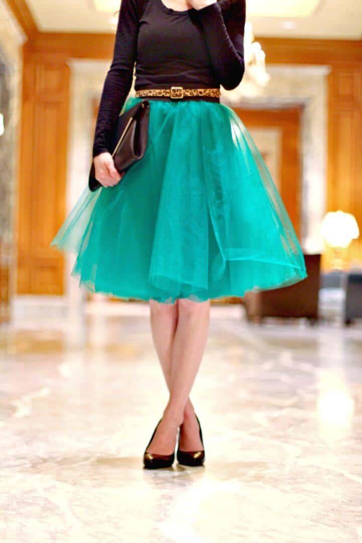 Falda de tul de bricolaje: hermoso vestido hecho en casa para el próximo evento