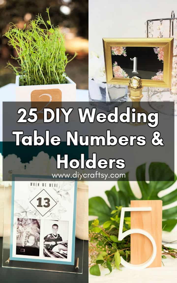 Los mejores números y titulares de mesa de boda de bricolaje