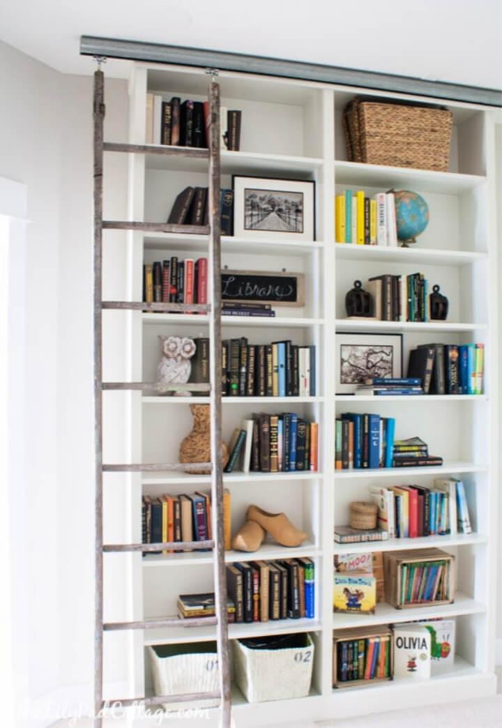 Billy Bookcase Hack con escalera de biblioteca