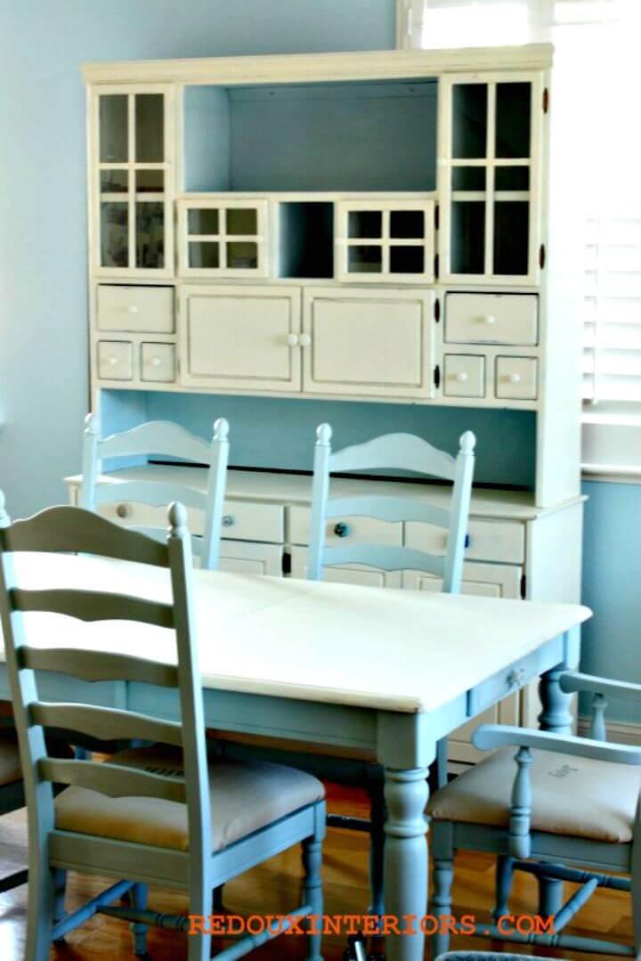 Renovación de mesa de bricolaje en blanco y negro