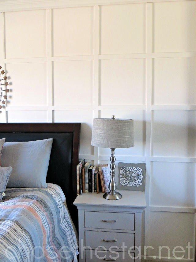 Tutorial de bricolaje para dormitorio principal de tablas y listones 1
