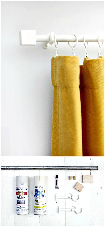 Barra de cortina y remate de presupuesto de bricolaje - Tutorial gratuito