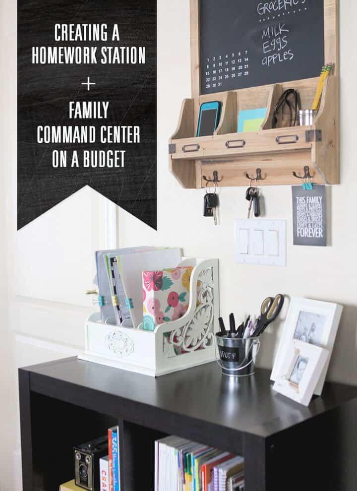 Centro de comando familiar de bricolaje económico