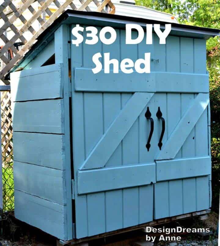 Construye un cobertizo por $ 30: el plan del mini cobertizo