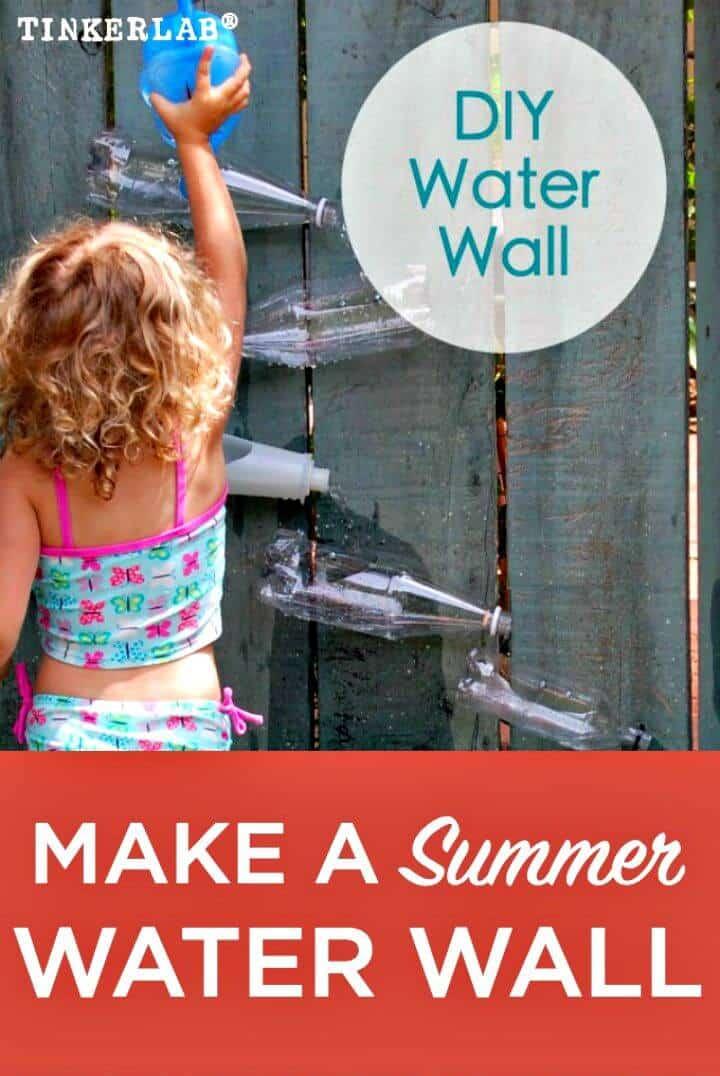 Pared de agua de bricolaje - Característica de agua del patio trasero