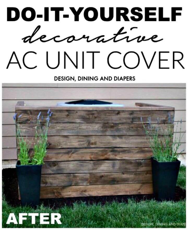 Construya su propia cubierta para unidad de aire acondicionado - bricolaje