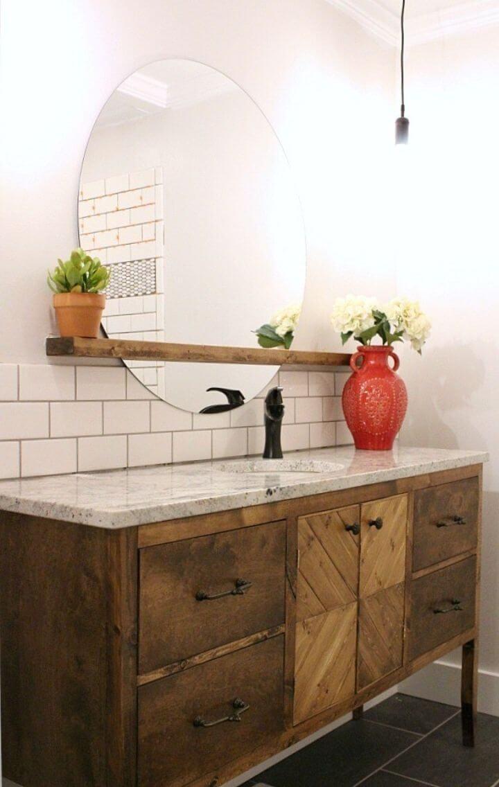 Construye tu propio tocador de baño