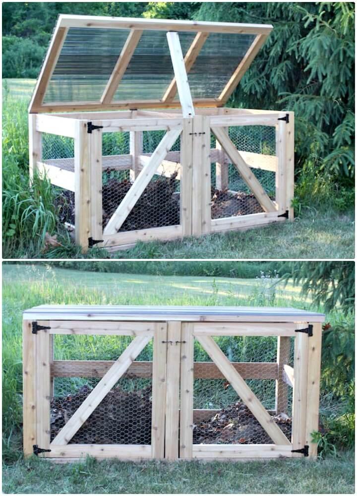 Construya su propio contenedor de compostaje doble - bricolaje