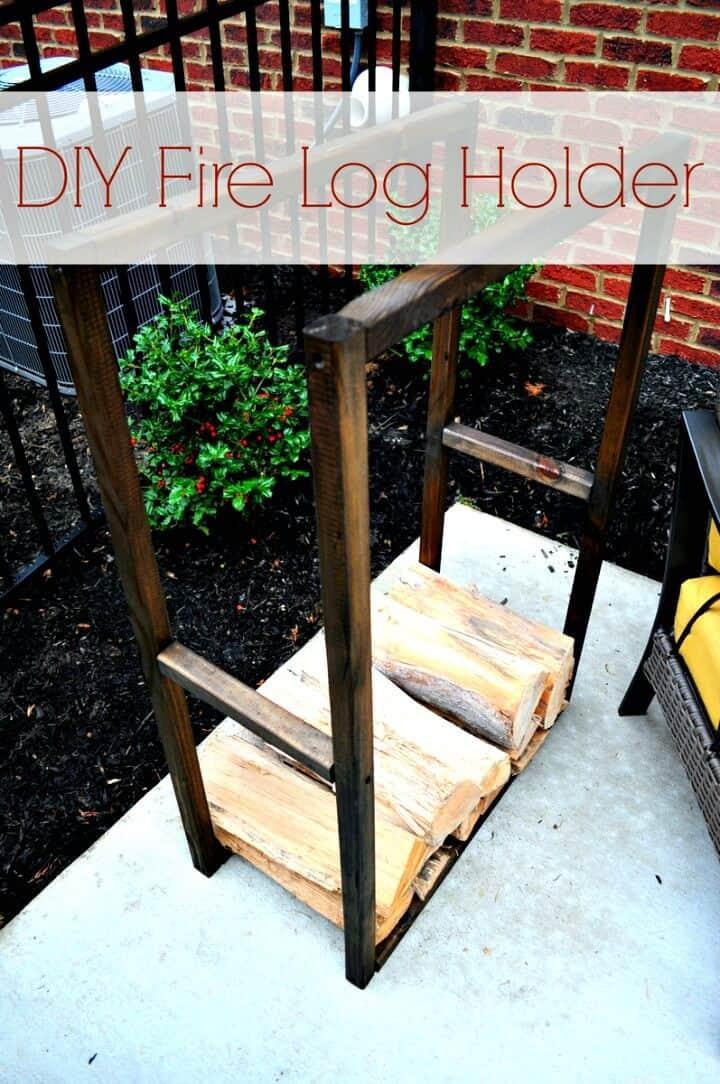 Construya su propio soporte para leños de fuego - Almacenamiento de madera para bricolaje
