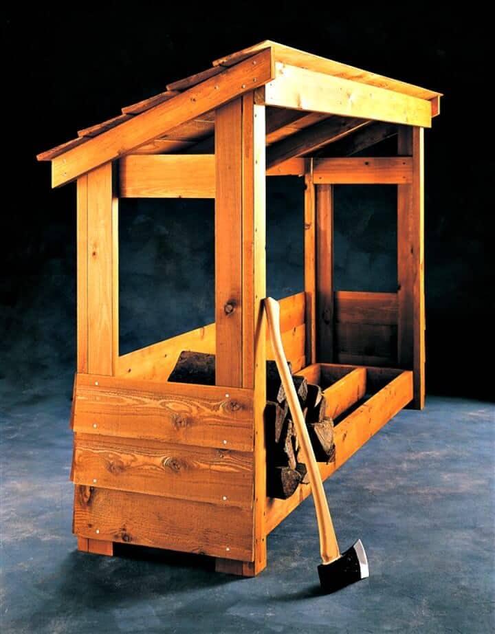 Cómo construir su propio refugio de leña - Almacenamiento de maderas de bricolaje