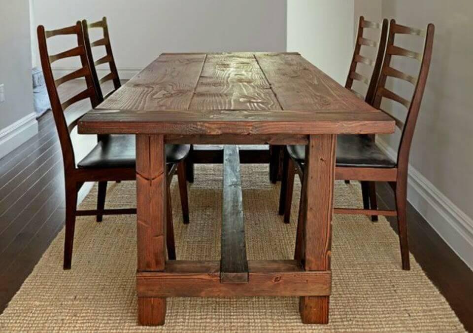 Construye tu propia mesa rústica de granja