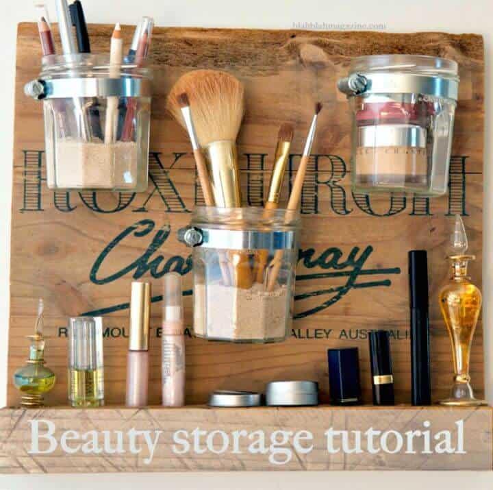 Cómo construir una estación de belleza: ideas de almacenamiento de maquillaje de bricolaje