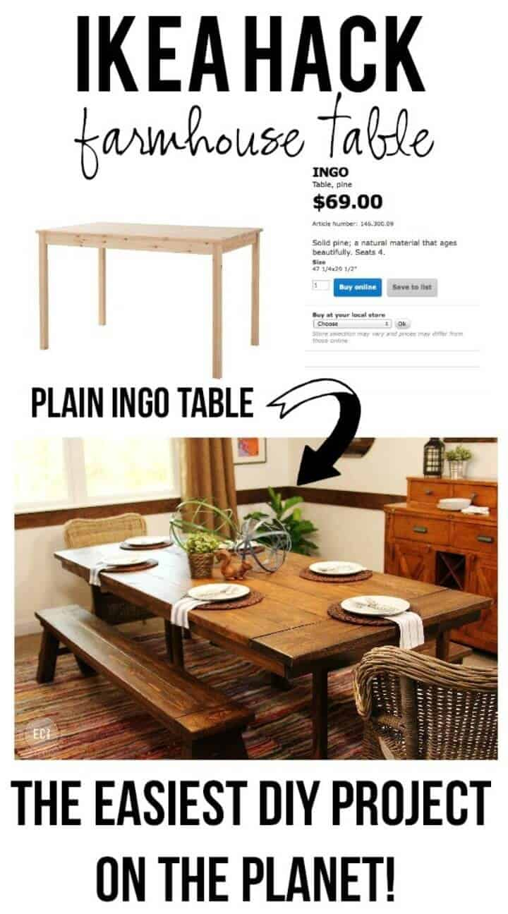 Construya una mesa de granja de la manera más fácil