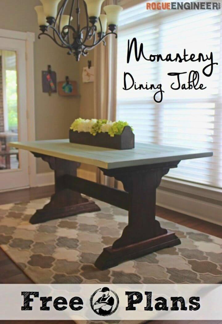 Construir una mesa de comedor del monasterio