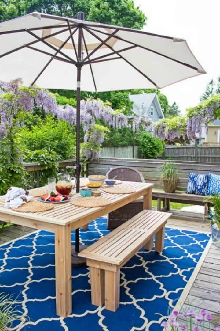 Construir una mesa de comedor al aire libre 1