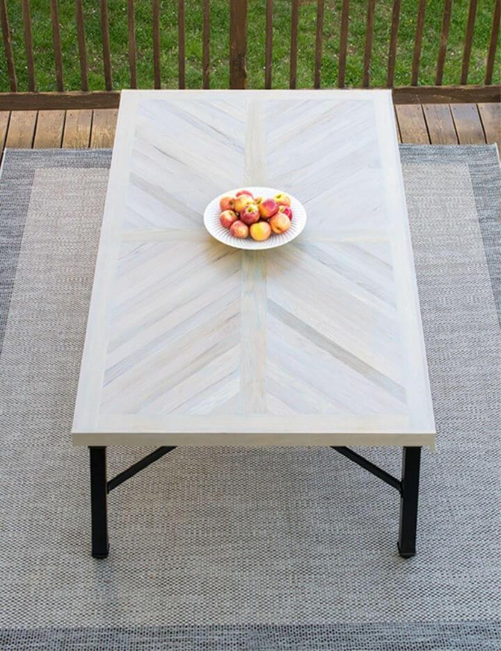 Construir una mesa de comedor al aire libre