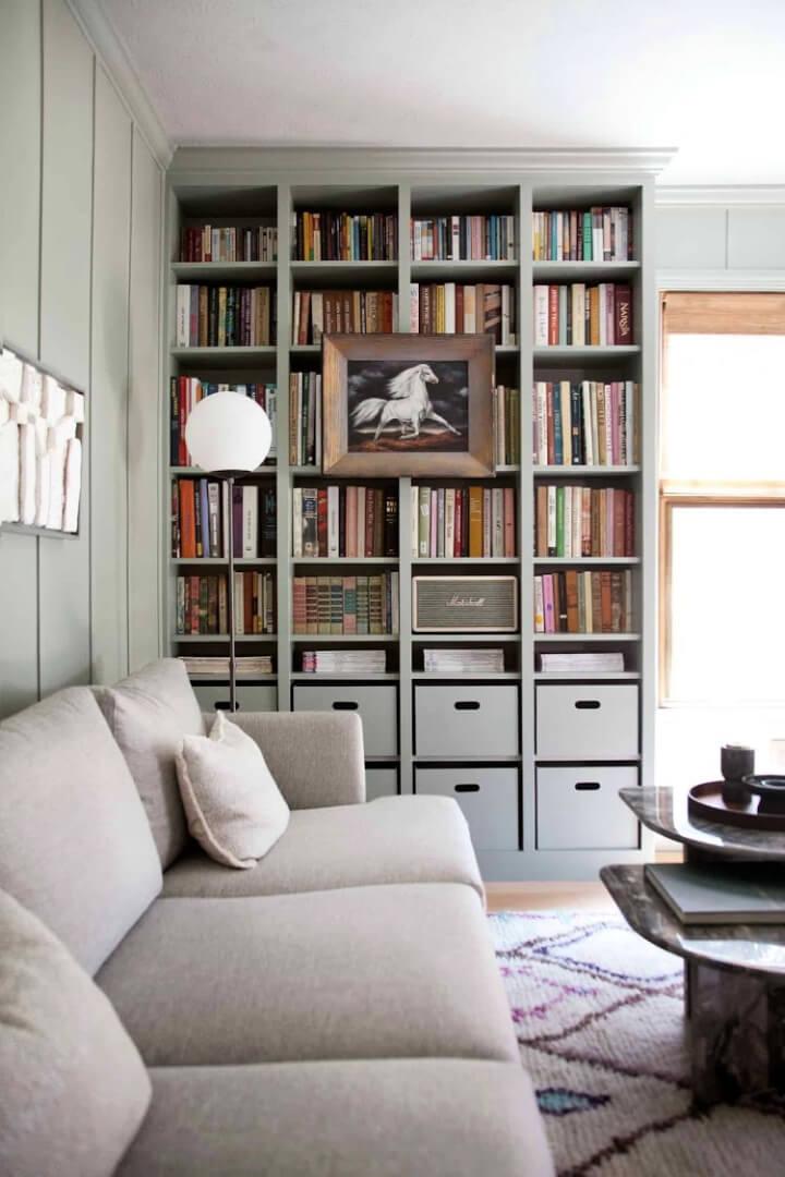 Construido en Ikea Billy Bookcase Hack