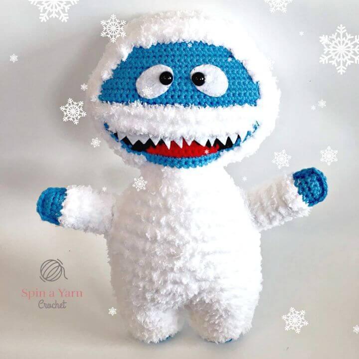 Bumble el abominable muñeco de nieve a crochet gratis