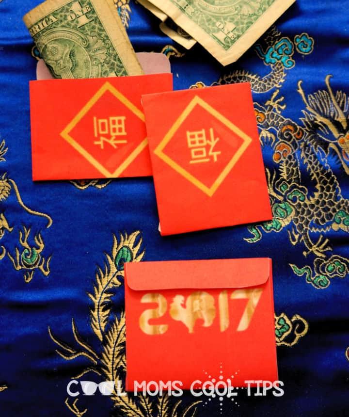 Sobres de la suerte del Año Nuevo Chino Plus imprimibles