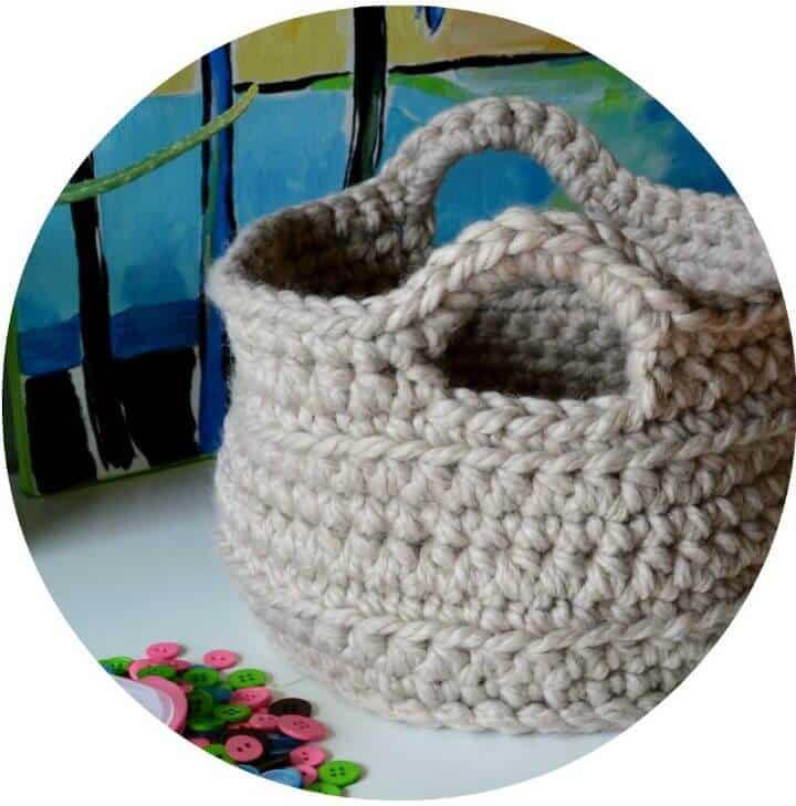 Patrón de cesta de ganchillo grueso
