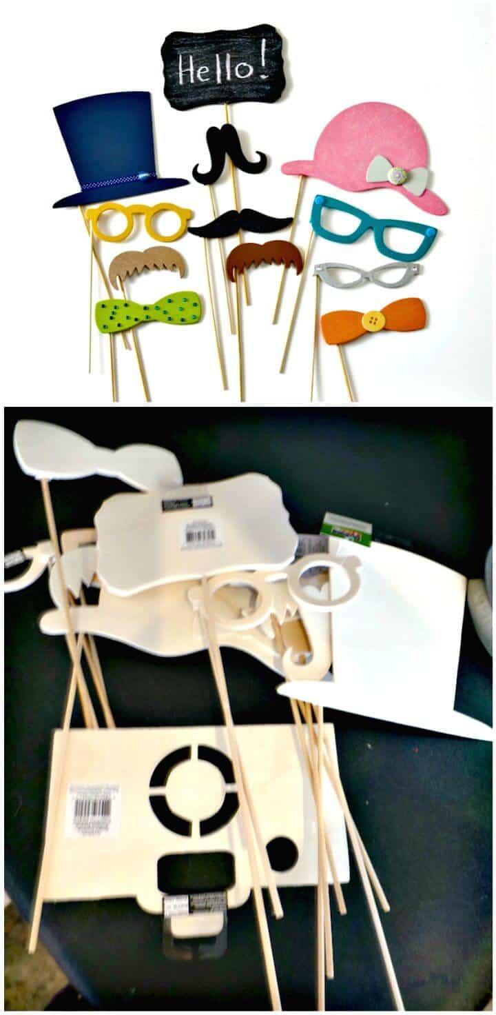 Tutorial colorido de accesorios para fotomatón de bricolaje