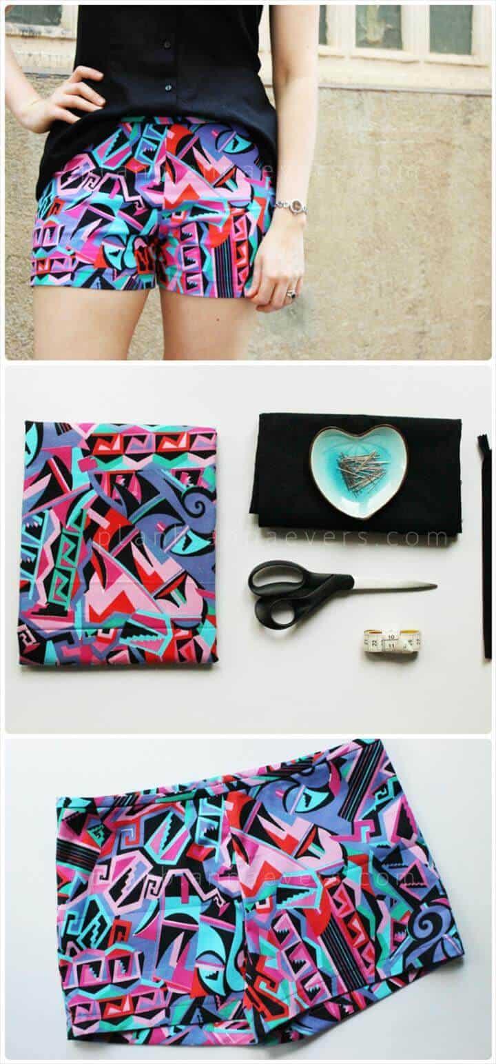 divertidos pantalones cortos de verano de bricolaje de color