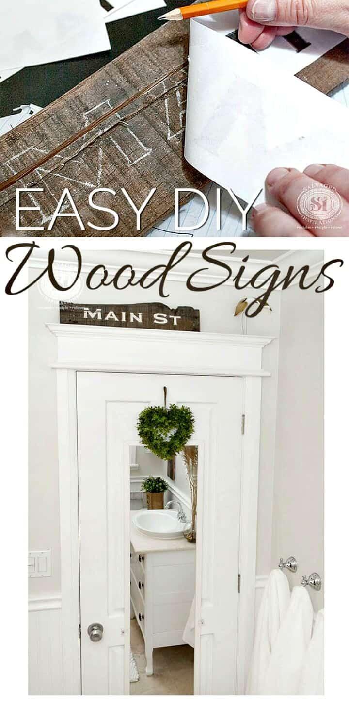 Crea letreros de madera e imprimibles gratis: bricolaje