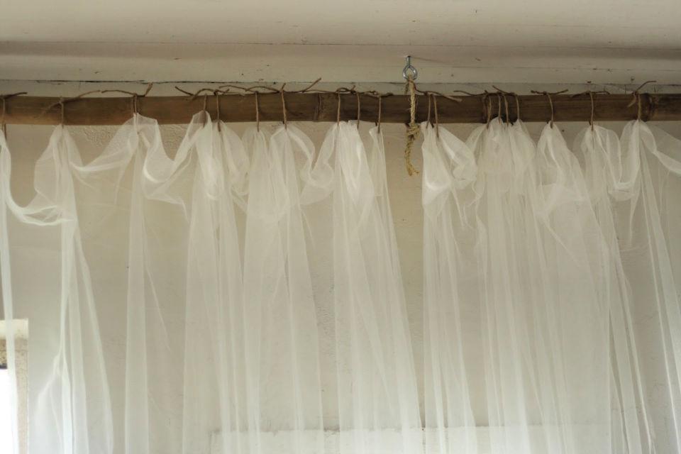 Manera creativa de colgar cortinas