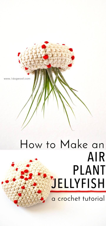 Tutorial de cómo tejer medusas de plantas de aire en crochet