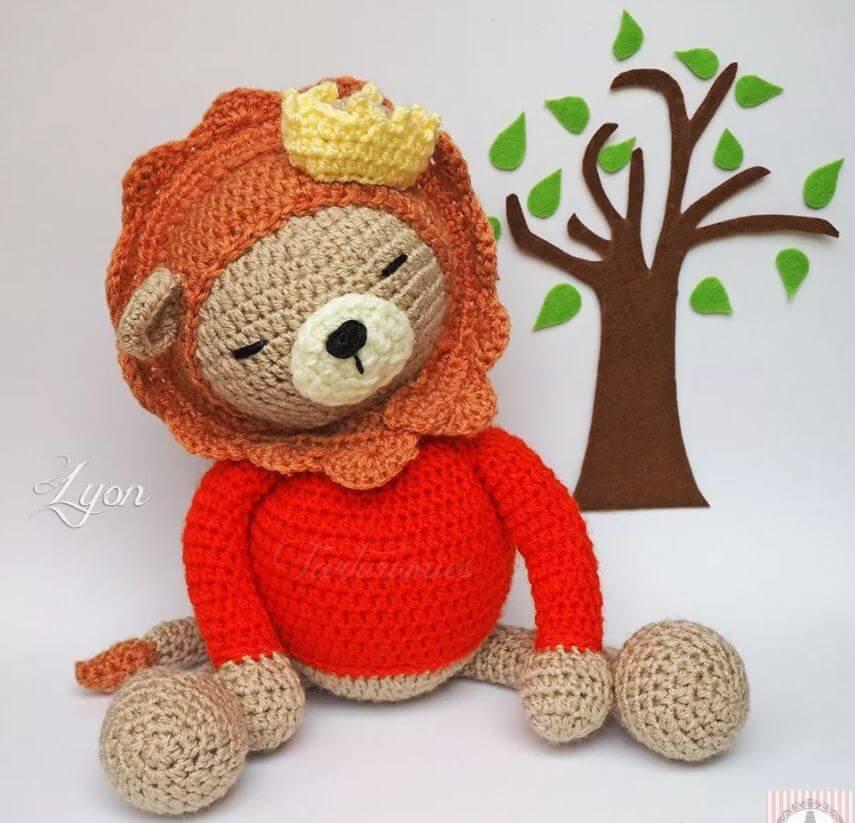 Cómo crochet Amigurumi Learning Project Lion Lyon - Patrón gratuito