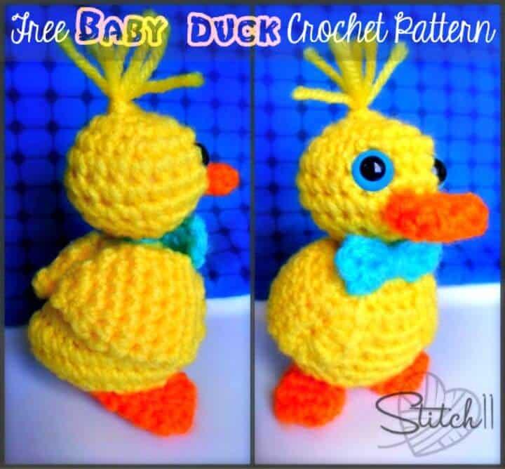 Cómo crochet Baby Duck Lovey - Patrón gratuito