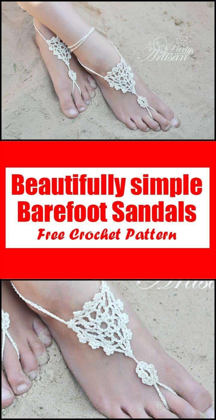 Crochet Beautifully simple Barefoot Sandals