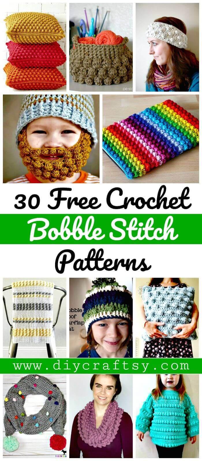 Crochet Bobble Stitch - 30 patrones de crochet Bobble Stitch gratis - Manualidades de bricolaje