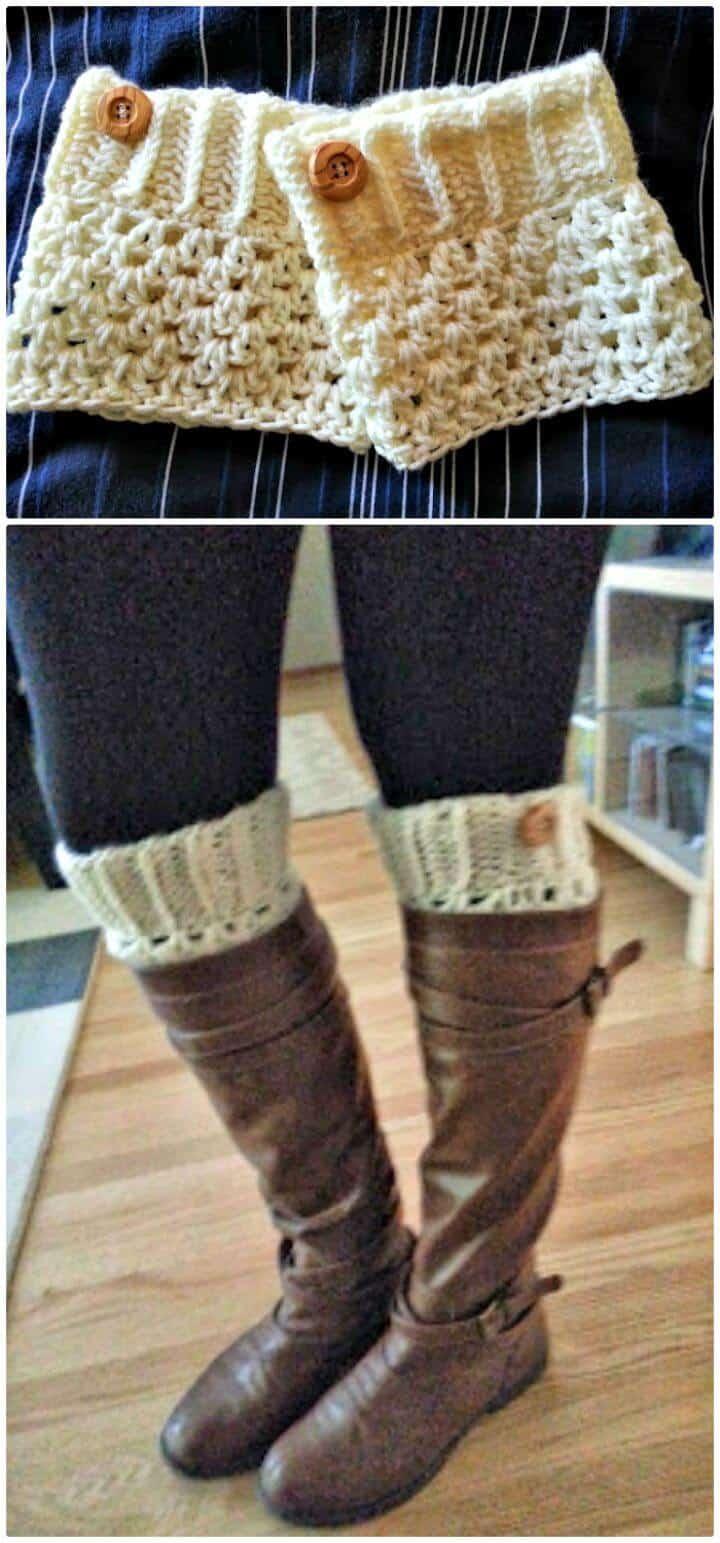 Cómo tejer los puños de las botas a crochet
