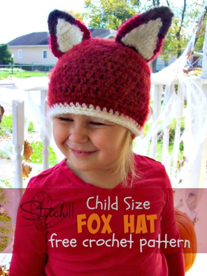 Cómo tejer a crochet un patrón sin gorro de zorro para niños
