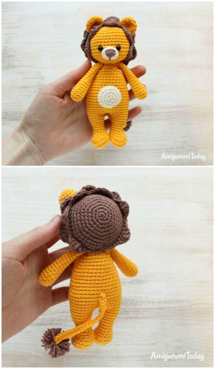 Crochet Cuddle Me Lion - Patrón Amigurumi Gratis
