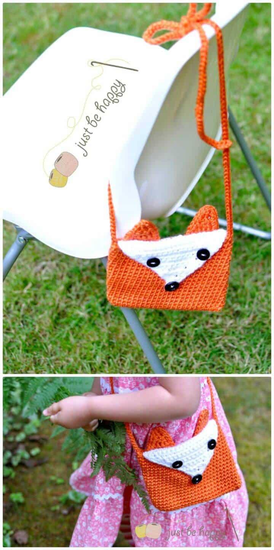 Cómo tejer un lindo patrón de monedero con zorro