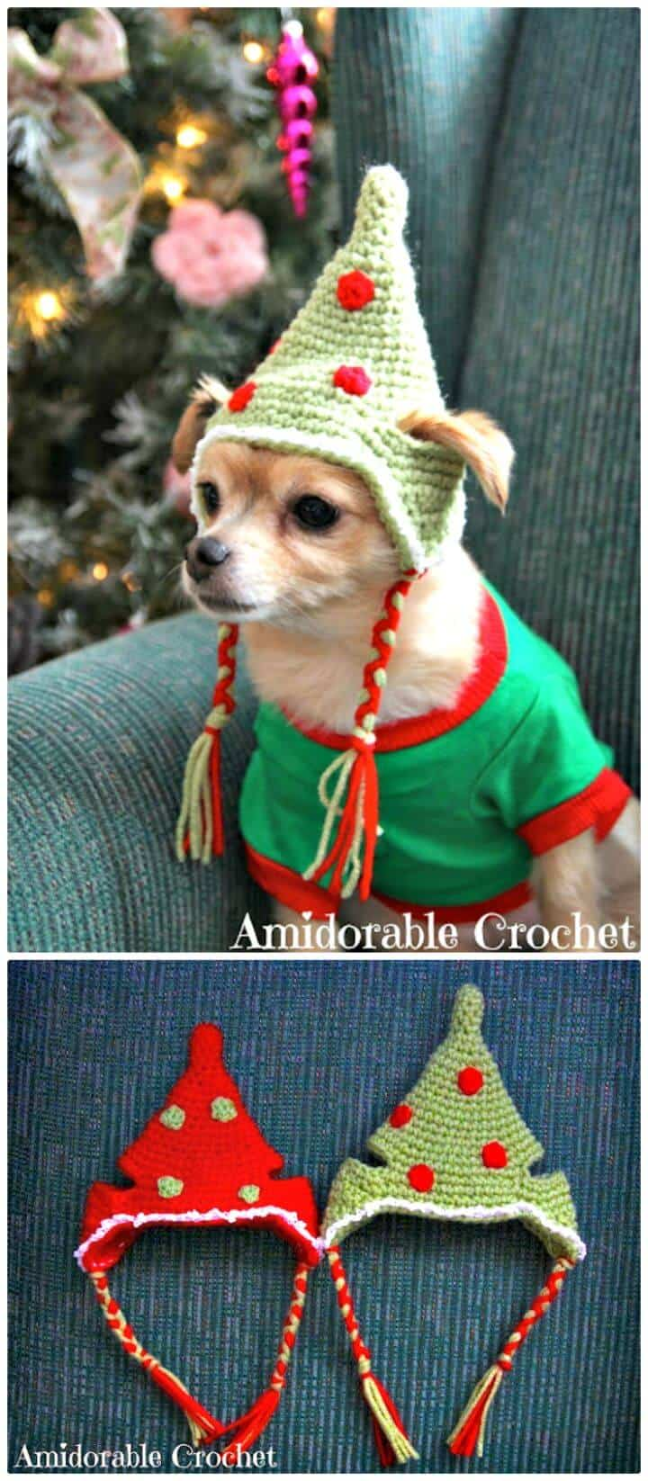 Sombrero de perro de ganchillo - Patrón de mascota gratis