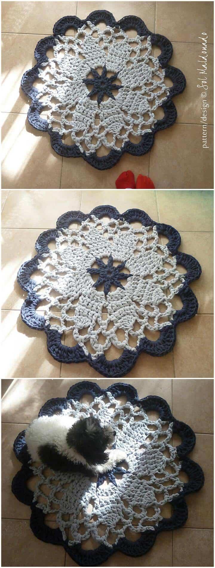 alfombra de tapete de ganchillo gratis mandala