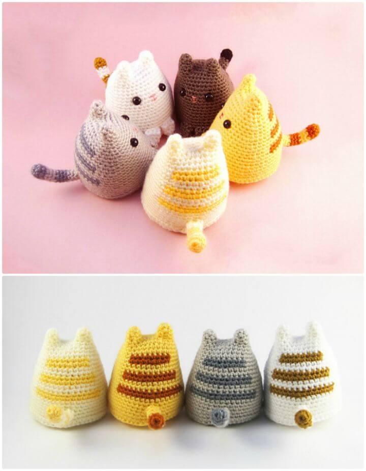 Cómo Crochet Dumpling Cat Amigurumi - Patrón Gratis
